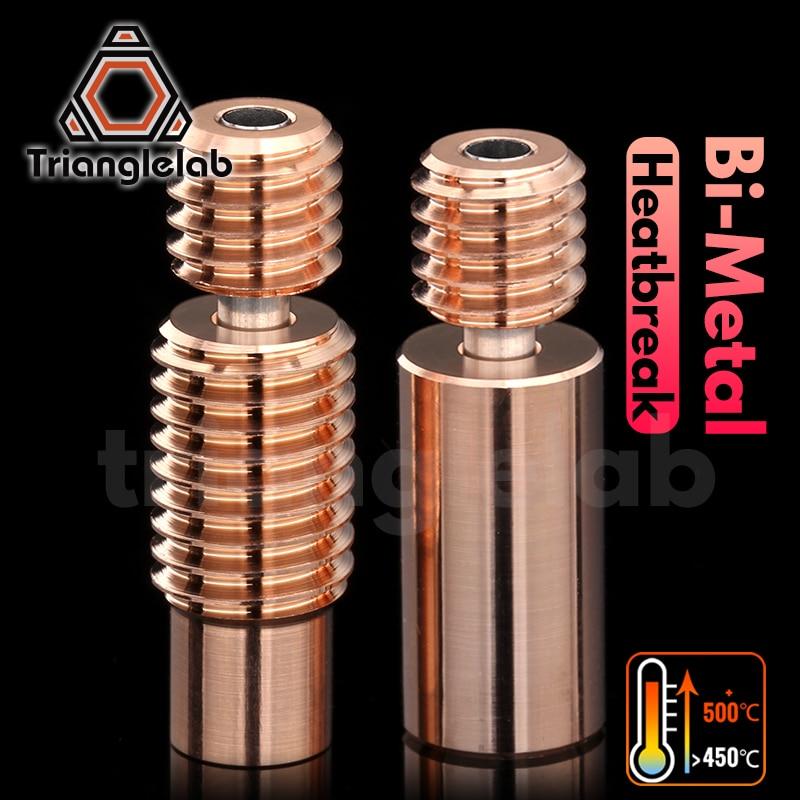 Trianglelab Bimetal Heatbreak Bimetal para E3D V6 HOTEND Heatbreak bloque calentador para Prusa i3 MK3 break 1,75 MM filamento suave