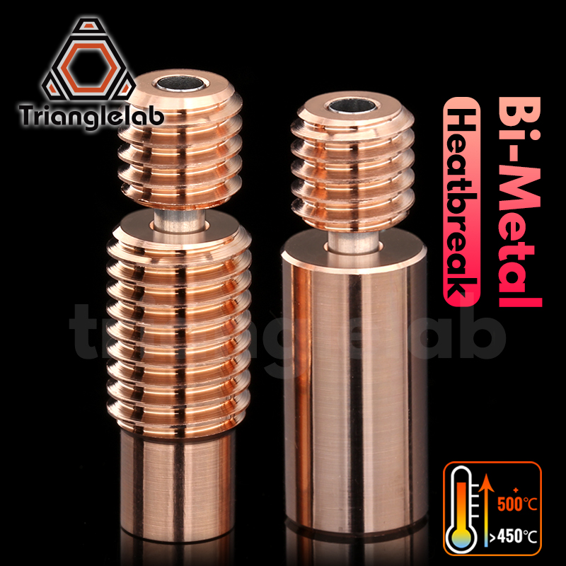 trianglelab Bi-Metal Heatbreak Bimetal Heat break for E3D V6 HOTEND heater block for Prusa i3 MK3 Break 1 75MM Filament Smooth