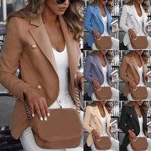 Women Long Sleeve Formal Blazer Jackets Cardigan Office Work