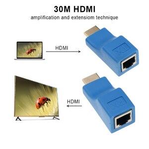 Image 2 - Plus récent Extendeur HDMI 4k RJ45 Ports LAN Réseau Dextension HDMI Jusquà 30m Sur CAT5e / 6 hotUTP LAN Câble Ethernet Pour HDTV HDPC