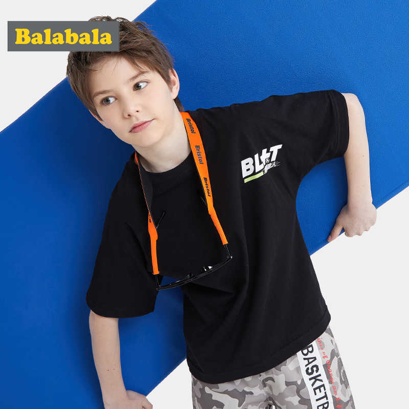 Camiseta de manga corta para niños Balabala 2020, novedad de verano, ropa para niños, tops de moda de algodón