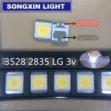 Xiasongxin luz 110 pçs para lg innotek led backlight 1210 3528 2835 1w 100lm branco fresco lcd backlight para tv aplicação