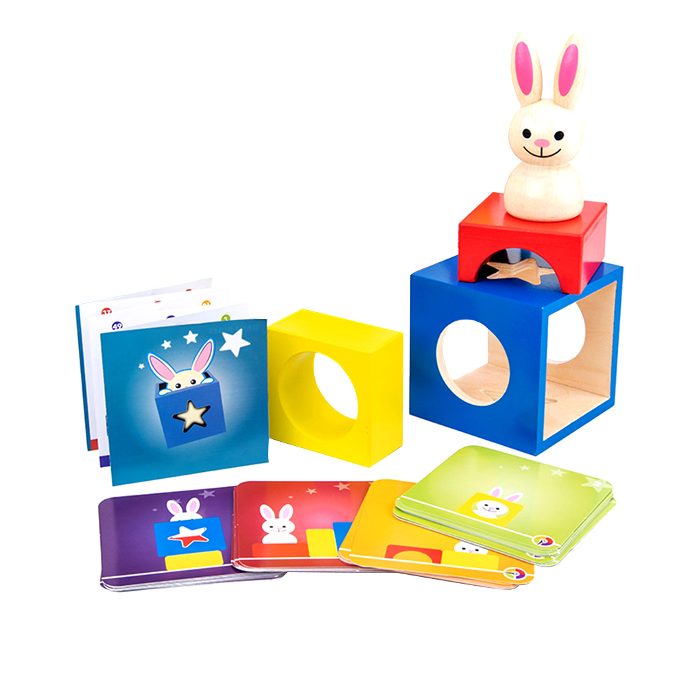 Wooden Puzzle Boxes With Secret Bunny Boo Hide And Seek Magic Game Brain Teaser Toys Kids Wood Toy Gifts For Early Learning