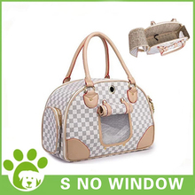 Portable Dog Cat Outdoor Carrier Bag Pet Puppy Travel Bags Breathable Mesh Small Dog Cat Carrier Pets Leather Handbag Chihuahua