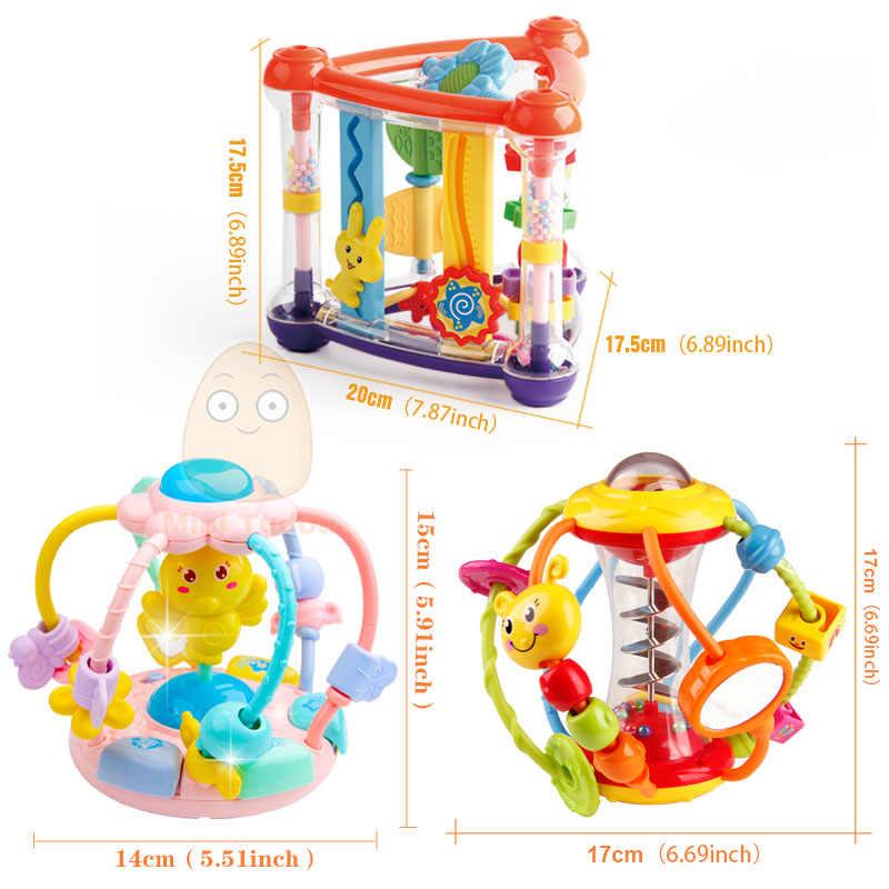 Bebê chocalho atividade bola chocalhos brinquedos educativos para bebês agarrando bola quebra-cabeça playgro bebê brinquedos 0-12 meses de aprendizagem escalada