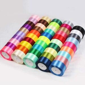 22 medidores/rolo 6mm 10mm 15mm 20mm 25mm 40mm 50mm, cetim de seda laços para artesanato artesanal, laço feito à mão envoltório de presente diy festa casamento decorativo