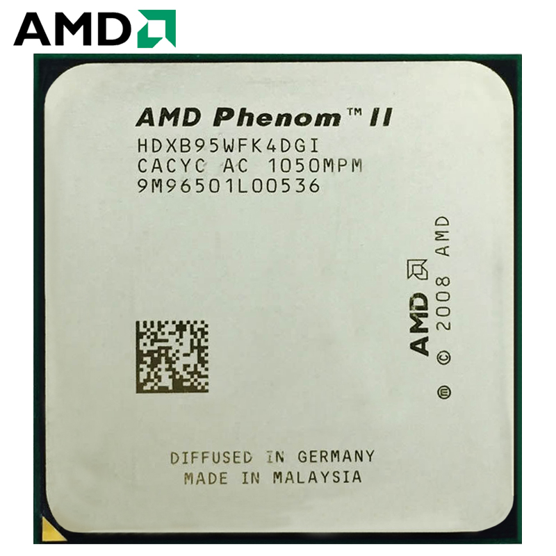 AMD Phenom II X4 B95 HDXB95WFK4DGM AMD B95 PC CPU Quad-Core AM3 100% Working Properly Desktop Processor 95W 3.0GHz Socket AM3
