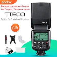 Godox tt600 2.4g sem fio gn60 mestre/slave câmera flash speedlite para canon nikon sony pentax olympus fuji lumix