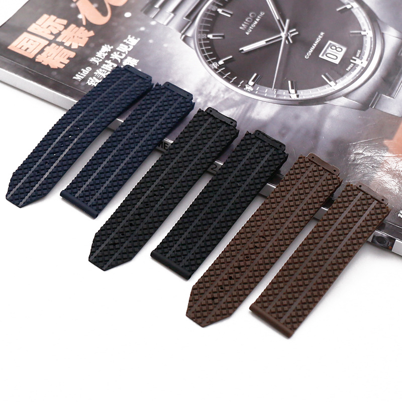Watch Accessories bracelet For Hublot Rubber Strap For Hublot Big Bang Series 17mmx25mm Men and Women Watch Band Accessories