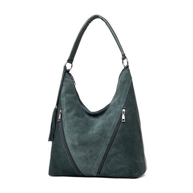 Mode vert daim et cuir PU femme sacs à bandoulière femmes en cuir sac à main concepteur grand dames Hobos sac pour mère sacs à main