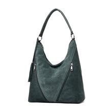 Modernos bolsos de hombro para mujer de piel sintética y gamuza verde, bolsos de diseñador de piel para mujer, bolsos grandes de mano para madres