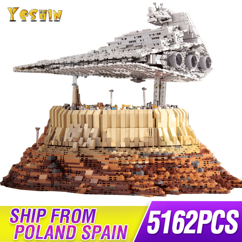 MOC 18916 Star toys Wars Destroyer cruise ship The Empire Over Jedha City compatible lepining Building block Christmas gift