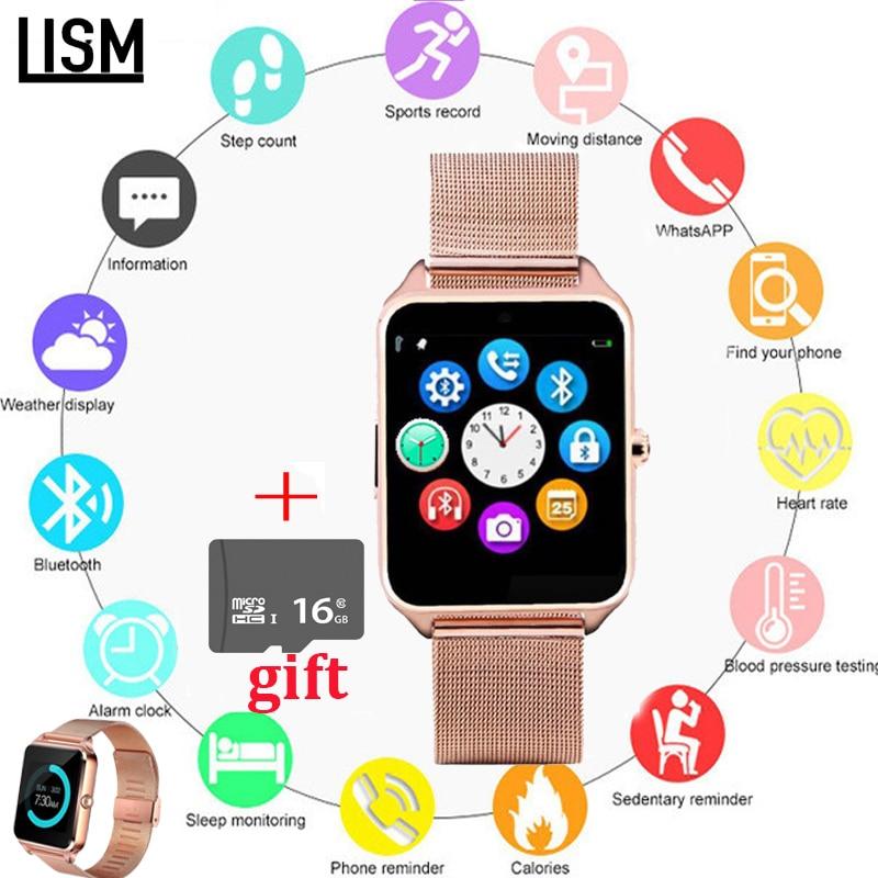 GT08 Plus Metal Strap Smart Watch Smart Watch Ios Z60 Bluetooth Wrist Smartwatch Support Sim TF Card Android Watch PK Q9 V8+BOX