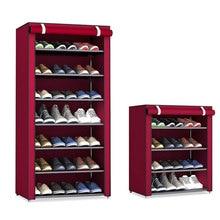 بسيطة قماش متعدد الاستخدامات خزانة خذاء النسيج متعدد الطبقات الجمعية الحذاء الرف للطي أرفف تخزين الأحذية الغبار