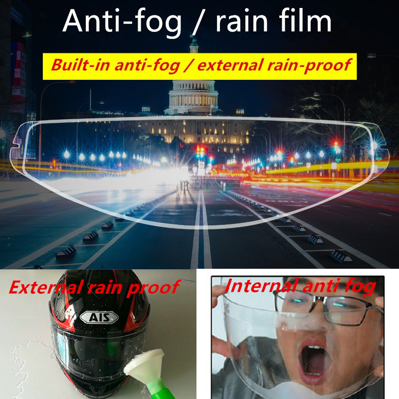 AEP Universal Typ Motorrad Helm Anti-regen Anti-nebel Film Elektrische Auto Halb-helm Anti-fog- objektiv Patch