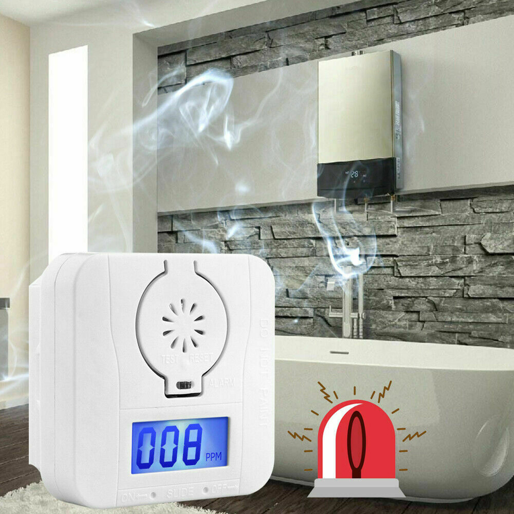 High Sensitive Co Gas Detector Carbon Monoxide And Smoke Alarm Detectors Combination Warning Poisoning Gas LCD Display