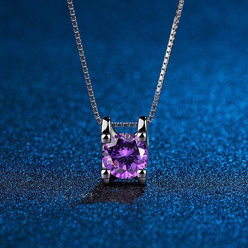 Suga Purple Crystal Jewelry Chain Necklace 2