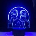 Французская рэп-группа PNL 3d светодиодный ночник с изменением цвета 3D ночник для спальни светильник для фанатов сюрприз подарки Прямая поста...