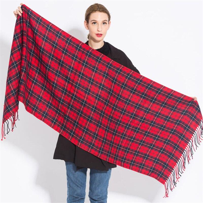 Fashion Warm Plaid cashmere Scarves For Women Winter Scarf Luxury Brand Shawl lady elegant Pashmina Foulard Femme bufanda mujer in Women 39 s Scarves from Apparel Accessories