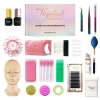Veyelash Eyelash Extension Training Kit Practice Mannequin Head Eyelash Kits For Individual Eyelash Extensions Easy Fan Lashes