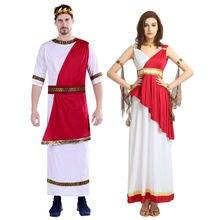 Umorden para grecki bóg bogini Athena kostium Cosplay grecki Toga zestaw dla kobiet mężczyzn dorosłych kostiumy Halloween przebranie