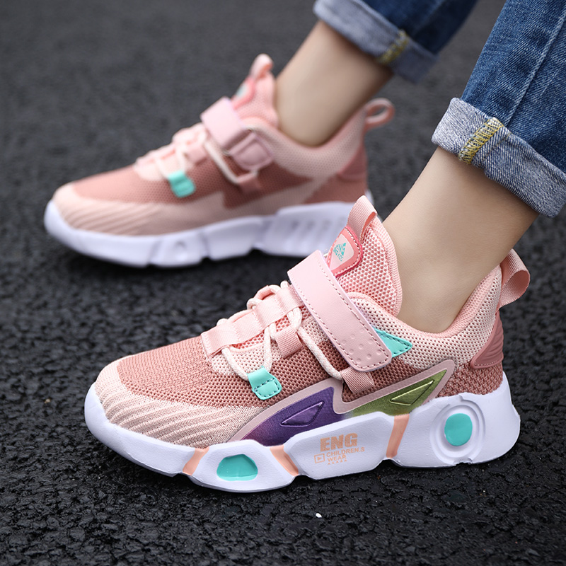 Unisex Children Shoes Comfortable Sneakers For Boy Breathable Fashion Outdoor Pink Girl\'S Shoes Tenis Infantil Size 27-38
