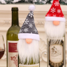 Wine-Bottle-Cover Christmas-Decorations for Home Gift Navidad Santa-Claus New-Year's-Decor