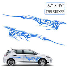 New Car Two Side Stickers Decal Vinyl Graphics 102X14 Body Decals Sticker Decoration