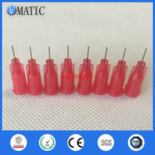 Screw-Needles Dispensing Syringe Stainless-Steel Tip 100pcs/Lot Red-Color 25G High-Quality