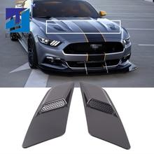 Mustang 2015 2017 için siyah HAVA GİRİŞİ Trim paneli ön kaput havalandırma dekorasyon