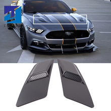 Para Mustang 2015 2017, Panel embellecedor de admisión de aire negro, decoración de ventilación de campana delantera