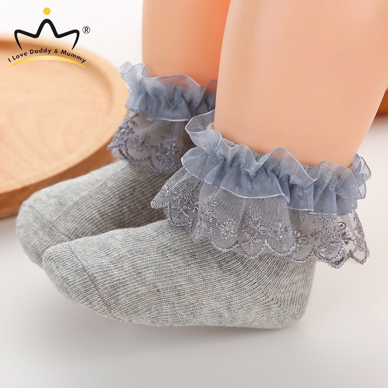 Cute Flower Pink Princess Baby Girl Socks Soft Cotton Newborn Toddler Shoes Girls Crib Shoes Baby Socks