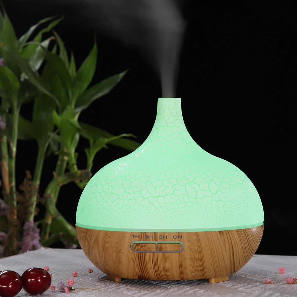 400ML Cracked Essential Oil Aroma Diffuser Colorful Lighting Household Humidifier Ultrasonic Atomizer Bedroom Air Purifier
