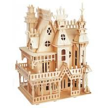 Diy деревянная 3d конструкция замка Сборная модель художественное