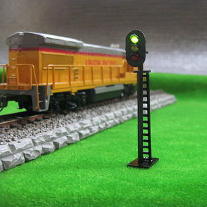 Image 2 - 5Pcs HO Scale Model Railway 3 Light T149 Block Signals G/Y/R 7.5cm 12V Led