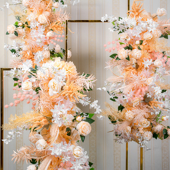 Wedding Flowers Wall Arranging Arch Stage Scene Layout Window Photo Silk Artificial Flower Row Party Home Decor
