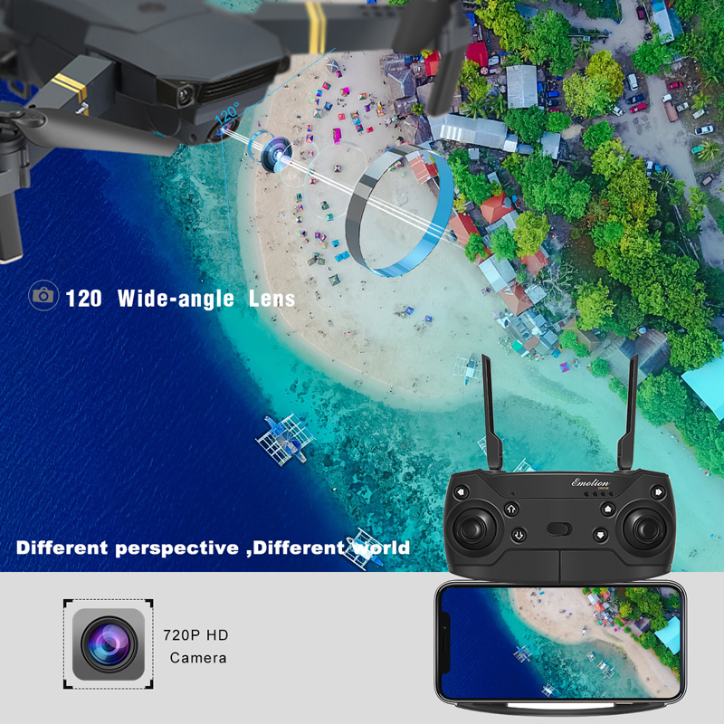 mini drone 4k hd Camera adjustment 90 degrees quadrocopter toy helicopter black rc drones dron folding micro pocketable dronee