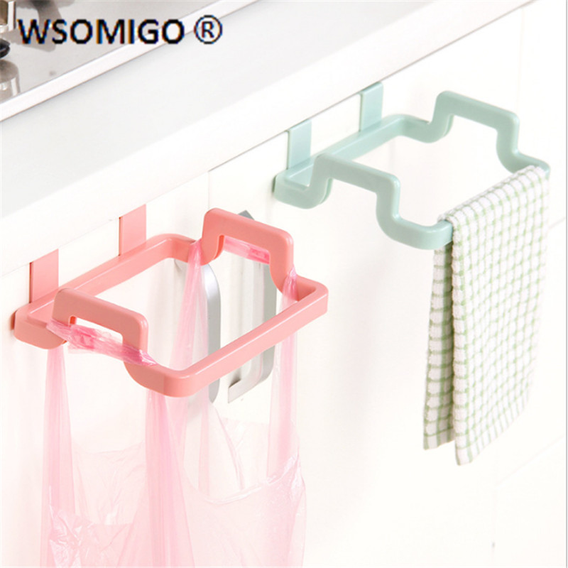1pcs caeative hangable portable garbage bag holder kitchen gadget storage bag holder kitchen accessories cocina home tools