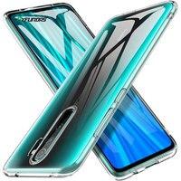 Estuche de silicona transparente para Xiaomi Redmi Nota 8 T Pro Mi 10 9 SE Lite 9 S 7 7A 8A K30 K20 9T 8 T A3 Mi10 accesorios del teléfono de la cubierta