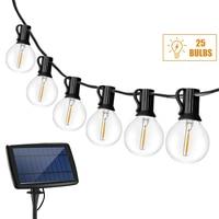 Bombillas G40 para luz LED Solar, guirnaldas de luces alimentadas por energía Solar, lámpara Led Solar para exterior, impermeable, cadena de luces para jardín