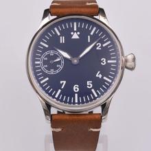 Corgeut 44mm Vintage Pilot Hand Winding Watch Seagull ST3600