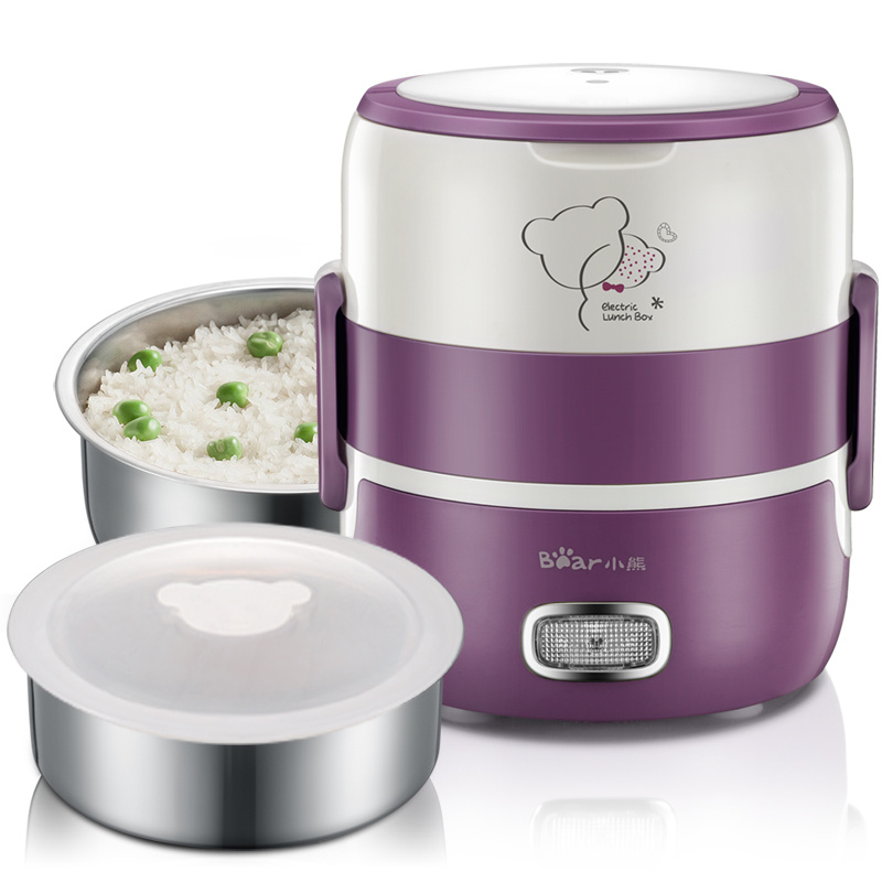 Lunch Electric Box Mini Can Be Inserted Electric Heating Portable Rice Cooker Steaming Rice Cooker  Double Electric Lunch Box 1