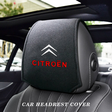 Car Headrest Cushion Neck Pillow Case Auto Seat Headrest Pillow Cover for Citroen C4 C1 C5 C3 C6 C5 C8 DS C-ELYSEE VTS C4l Xanti