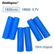 10pcs  Doublepow 18650 Li ion battery 3.7V 1800mah 18650 lithium rechargeable battery for flashlight batteries