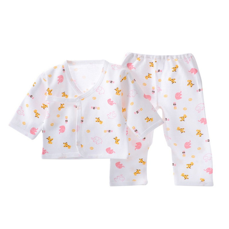 Infant Baby Cotton Underwear Sleepwear Boys Girls Breathable Cartoon Animal Pattern Outfits Pijama Infantil Pyjamas Kids Clothes