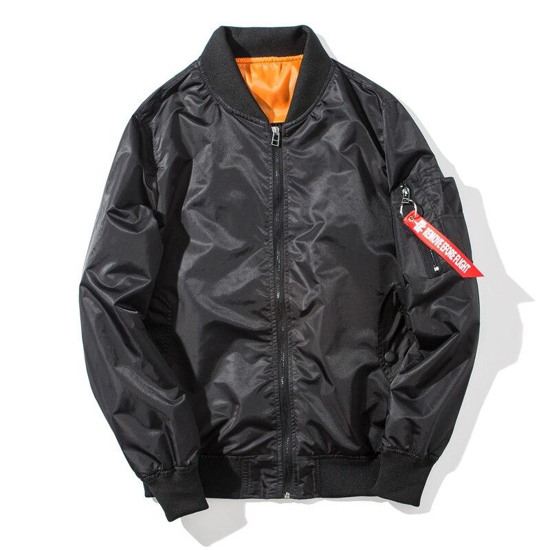 Autumn Men Bomber Flight Pilot Jacket Men Ma-1 Casual Jacket Air Force Male Army Military Motorcycle Hip Hop Streetwear ,GA454