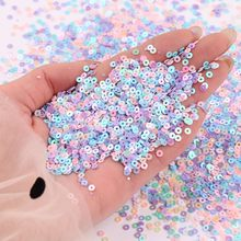 2mm 3mm 4mm Sequins AB Plated Color Flat Round Slice Paillettes Sequin For DIY Wedding Craft,Women Garments Sewing Accessories