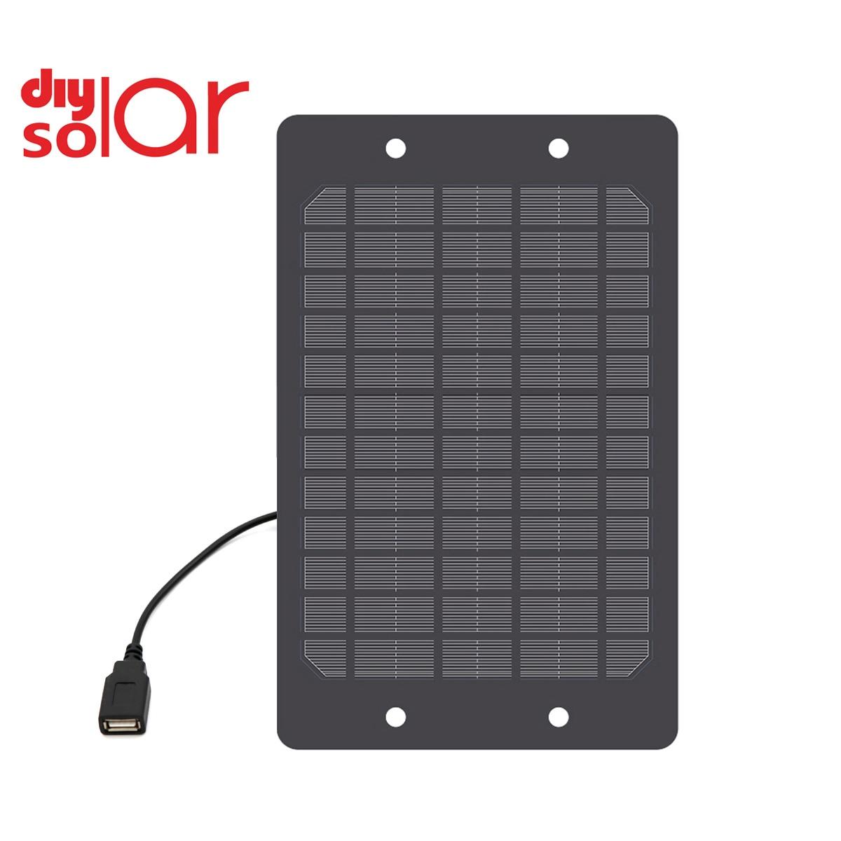 5V 1200mA 6Watt Battery Charger USB port DC 5.5*2.1 Charge Regulators Solar Panel 6W Outdoor Power Li ion Batteries Portable|Solar Cells| - AliExpress