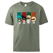 Japan Anime Dragon Ball Master Roshi Tshirts Man Casual Short Sleeve Top Summer 100% Cotton