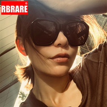 RBRARE 2019 Square Big Frame Sunglasses Women Vintage Leopard Glasses Men Street Beat Shopping Retro Lentes De Sol Hombre